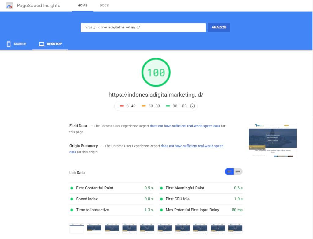 Goolge Page Speed Indonesia Digital Marketing